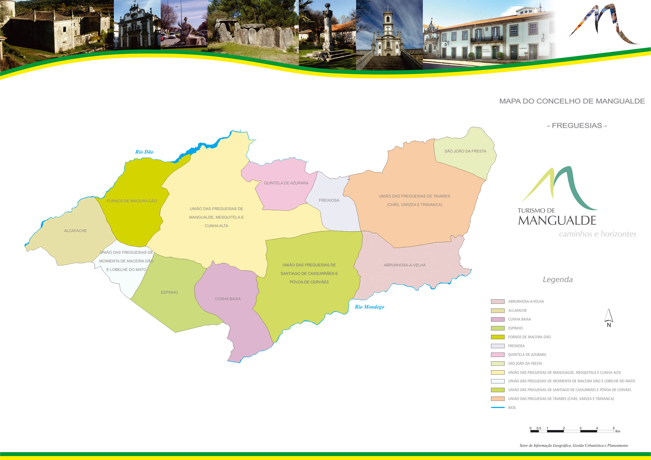 mapa do concelho de mangualde Mapas de Mangualde   Câmara Municipal de Mangualde mapa do concelho de mangualde